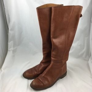 Madewell boots Sidney knee high tall riding brown